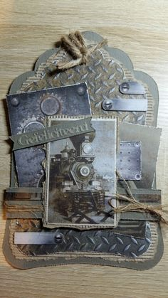 Gilding Wax, Masculine Cards, Creative Cards, Embellishments, Transportation, Steampunk, Card Making, Collage, Scrapbooking