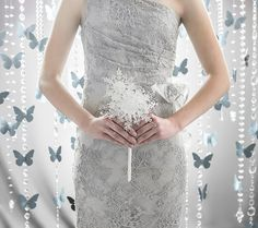 Wedding Flowers  Crystal Snowflake by BridalBouquetsbyKy on Etsy, $65.00