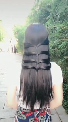 Hairdo For Long Hair, Long Hair Video, Bun Hairstyles For Long Hair, Hair Style Vedio, Front Hair Styles, Hair Styler, Hair Videos, Hair Hacks, Natural Hair Styles