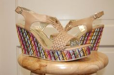 Women's Cato Nude Wedges size 9  #Cato #PlatformsWedges
