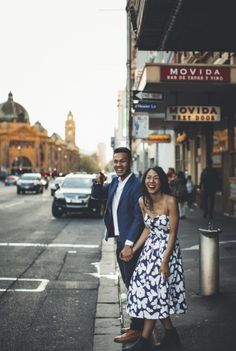 Casual engagement shoot in Melbourne, Australia Pre Wedding Poses, Pre Wedding Photoshoot, Wedding Shoot, Wedding Attire, Photoshoot Ideas, Wedding Ideas, Wedding Photography Examples, Muslim Couple Photography, Street Art Melbourne