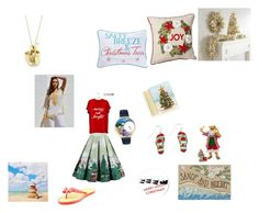 """""""Aussie Beach Christmas"""" by saffron-rose on Polyvore featuring Pier 1 Imports, Masterpiece Cards, Tiffany & Co., Kurt Adler, Kim Rogers and Report"""