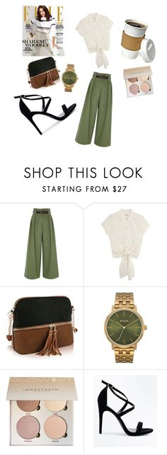 """Warm coffee for casually chic day."" by ordinary-hijabis ❤ liked on Polyvore featuring River Island, MKF Collection and New Look"