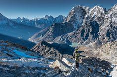 Descending from the Lobuche Peak, Nepal