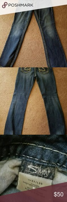 Silver Jeans Nice pair of silver jeans in great shape size is 32x33 Silver Jeans Jeans Boot Cut