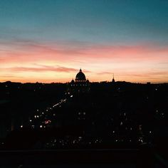 How can you avoid falling in #love with #Rome?  #Amazing #sunset from #castelsantangelo