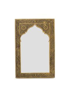 Compact with a luxury feel, this small gold mirror is ideal for a hallway, bathroom or cloakroom to instantly add warmth and Moroccan character. Moroccan Design, Moroccan Decor, Moroccan Mirror, Moroccan Furniture, Arch Mirror, Room Planning, Planning Board, Pooja Rooms, Cool Walls