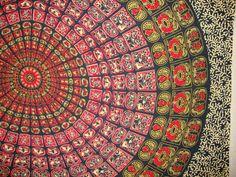 Boho Hippie Tapestry Fabric Mandala Pattern