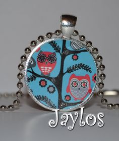 Owl Pendant  Owl Necklace  Owl Jewelry  Tree of Owls by Jaylos, $8.00