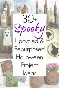 Halloween and upcycling are a match made in DIY heaven - and this collection of repurposed projects for Halloween decor Scary Halloween Decorations, Scary Halloween Costumes, Halloween Party Decor, Diy Halloween Decorations, Holidays Halloween, Halloween Crafts, Halloween Makeup, Halloween Zombie, Vintage Halloween