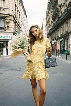 Faithfull The Brand - Daphne Dress - Marguerite Floral - Yellow – Turquoise Lane Lingerie Paris, Lingerie Chic, Girl Fashion, Fashion Outfits, Womens Fashion, Fashion Tips, 70s Fashion, Hijab Fashion, Korean Fashion