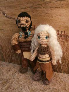 Khal Drogo and Khaleesi. Game of thrones amigurumi. Moñacos, cosicas y meriendacenas