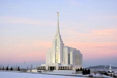 Rexburg ID. LDS temple at sunrise