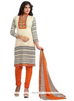 blooming-lace-work-cream-cotton---churidar-designer-suit.jpg (800×1100)
