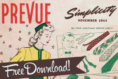FREE DOWNLOAD - Simplicity Patterns Christmas preview mini catalog 1943. #1940s #sewing