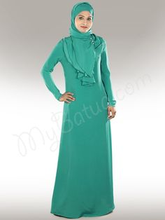 Falak Abaya in Regular and Plus Sizes - www.mybatua.com