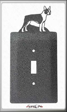 Boston Terrier Plate Covers by swenproducts on Etsy, $9.95