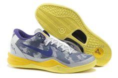 http://www.shoxnz.com/nike-kobe-8-system-basketball-shoe-graypurpleyellow.html NIKE KOBE 8 SYSTEM BASKETBALL SHOE GRAY/PURPLE/YELLOW Only $49.00 , Free Shipping!