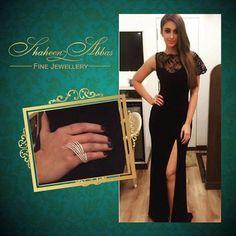 The very beautiful Ileana D'Cruz slaying in our stunning diamond piece! #ShaheenAbbas x ?#GehnaJewellers