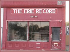 The Erie Record -    		Old newspaper office in Erie, Kansas (since 1876).