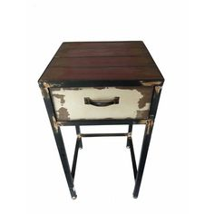 1 Drawer Nightstand from Wayfair Canada Enhance the room with this antiqued style piece. Vintage night stand has one drawer.