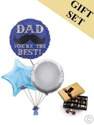 Dapper Dad Moustache Balloon and Large Chocolates