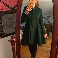 Women's Winter Single breasted wool Coat red swing hooded | Etsy Hooded Wool Coat, Red Wool Coat, Winter Coats Women, Coats For Women, Winter Rock, Houndstooth Fabric, Cool Coats, Langer Mantel, Black Slacks