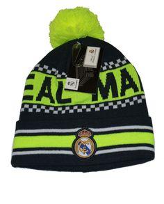 2d09df686d6 Real Madrid Beanie Pom Pom Skull Cap Hat New Season (NEON)  Real Madrid Fc  Beanie W-POM Skull Cap Hat . New Season. This Beanie is officially licensed  with ...