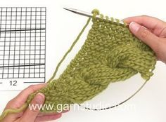 DROPS Knitting Tutorial: How to work the shawl with cable edge in DROPS 172-10
