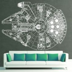 Star Wars AT-AT Walker Vinyl Wall Art Decal - wall decal, or wall sticker, wall tattoo, or wall vinyl, is a vinyl sticker that is affixed to a wall or other smooth surface for decoration and . Star Wars Wall Art, Star Wars Decor, Millennium Falcon, Wall Stickers, Wall Decals, Star Wars Zimmer, Star Wars Bedroom, Wall Tattoo, Star Wars Facts