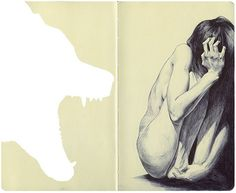 Amazing moleskin drawing.