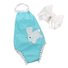 Newborn Baby Girl Sky Blue Bodysuit Cute Rabbit Romper Jumpsuit Outfits 912 Months