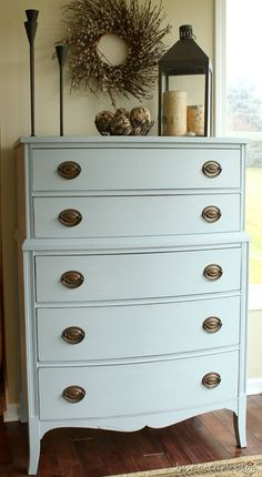 Just a Girl Blog » Mustard Seed Milk Paint Dresser {Makeover}