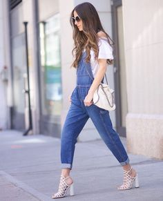 "Arielle Noa Charnas on Instagram: ""All about the bare shoulders & overalls this season! @lastcallnm @shopstyle #LCFinds #lastcallnm #ad"""