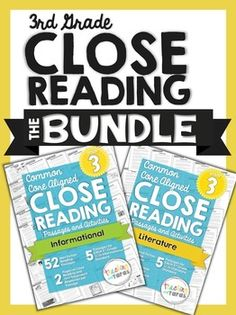 Best Seller 3rd Grade Close Reading - Informational AND Literature BUNDLE! Five passages and text dependent reading activities for EVERY 3rd grade Common Core Standard - $