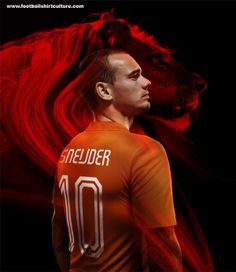 Netherlands World Cup 2014 Nike 125th Anniversary Home Football Kit (Back)