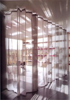 Petra Blaisse curtains!  I was introduced to her work in my architecture studio last semester.