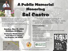 A Public Memorial Honoring Sal Castro