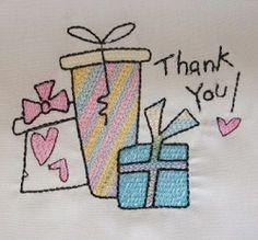 FREE! Thank You - 4x4 | FREE | Machine Embroidery Designs | SWAKembroidery.com SewAZ Embroidery Designs
