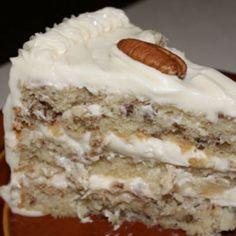 Italian Cream Cake @keyingredient #cake #cheese #italian