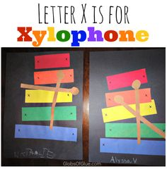 Letter X Show and Tell just got easier with this Xylophone construction paper craft!