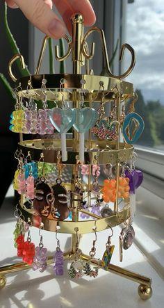 Funky Jewelry, Ear Jewelry, Resin Jewelry, Cute Jewelry, Beaded Jewelry, Jewelry Making, Jewlery, Shrink Plastic Jewelry, Hippie Jewelry
