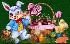Happy Easter Gif, Ostern Wallpaper, Easter Paintings, Just Magic, Easter Pictures, Easter Art, Wordpress Theme, Art For Kids, Cute Animals