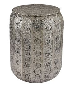 Look at this Pierced Metal Stool on #zulily today!