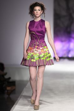 Painted dress by Jeffrey Owen Hanson,  legally blind artist