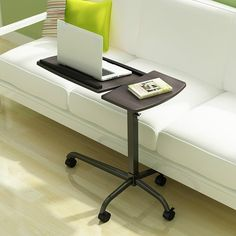Free shipping Office furniture mobile computer desk standing desk for laptop as sofa side table for home shool or bedroom