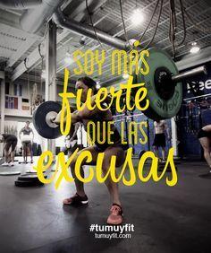 Soy más fuerte que las excusas. #motivación #frases #gym