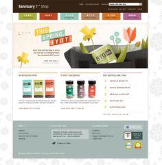 Organic web design inspiration: www.shopsanctuaryt.com