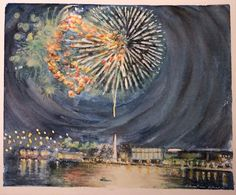 Fireworks in Annapolis, MD Architectural Design Studio, Architecture Design, Downtown Annapolis, Washington Dc Area, Z Arts, Fireworks, Nautical, Sailing, Watercolor