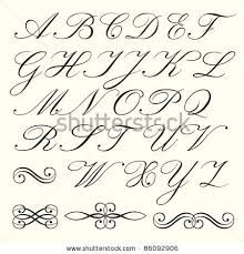 Hand drawn script alphabet with calligraphic elements - stock vector Alphabet A, Script Alphabet, Handwriting Alphabet, Alphabet Images, Handwriting Styles, Copperplate Calligraphy, How To Write Calligraphy, Calligraphy Letters, Penmanship
